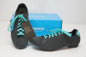 New Shimano Women's RT4 MTB Bike Shoes 40 7.8 Gray Mint SPD Cycling Spin Touring