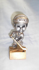 team lot of 16 bobblehead male Hockey trophy statue gold resin award Bh561