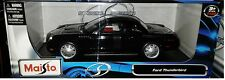 2002 Ford Thunderbird Hard Top Coupe Die-cast Car 1:18 Maisto 10 inch Black