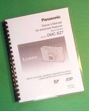 LASER PRINTED Panasonic DMC-SZ7 Advanced Camera 145 Page Owners Manual Guide