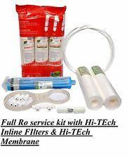 Full ro service kit With Hi-Tech Inlione Filter Set & Hi-Tech RO membrane filter