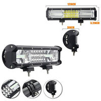 7D Tri Row 12Inch 324W LED Work Light Bar for Truck SUV 4WD Offroad Jeep Pickup