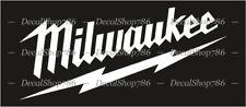 Milwaukee Tools - Cars/SUV/Truck/Toolbox Vinyl Die-Cut Peel N' Stick Decals