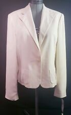 NWT Ralph Lauren Women's Cream Color 100%Silk Suit Jacket! Size 16