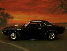 Triple Black 1971 71 Dodge Challenger R/T 1/64 Scale Diecast Diorama Collectible