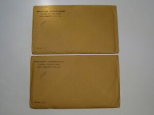 2 Silver 1960 Small Date US Mint Proof Sets w/ COAs.  #25