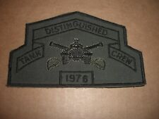 1976 U S Army Armored Distinguished Tank Crew Patch Dark Green
