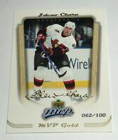 Zdeno Chara /100 made MVP Gold Insert Parallel Hockey Card 272 Senators Bruins