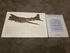 "Memphis Belle Autograph of the Pilot Capt. Robert K. ""Bob"" Morgan COA from Widow"