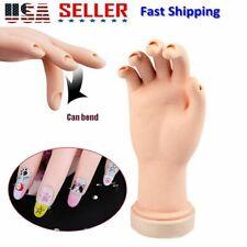 Flexible Fake Hand Nail Art Training Display Movable Practice Nail Tool Model