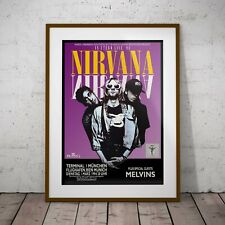 More details for nirvana - last concert poster three print or two frame options new exclusive
