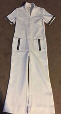 1 Pc Vintage 60's Women Short Sleeve Pants Suit Bells Polyester Knit Sz 8