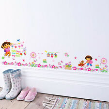 Dora Girl Boots Monkey Wall stickers Border Decals Kids Decor Nursery Art Mural