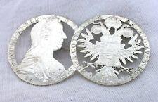 LARGE 2 4/5 Inch Custom Made Austrian Maria Thaler .999 Pure Silver Pin Brooch