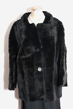 1950s VINTAGE Genuine Kangaroo Fur Coat CORNELIUS Sydney, Australia Jet Black