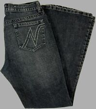 Womens NEW YORK LAUNDRY NYL JEANS Size10 LowRise Straight Embroidered/Rhinestone
