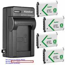 NP-BX1 Battery or Wall Charger for Sony Cyber-shot DSC-RX100M6 (RX100 VI), RX1R