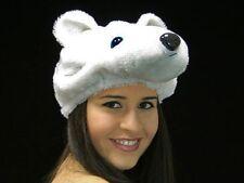 Déguisement fête Noel Bonnet Chapeau élastiqué tête d'ours blanc peluche wm-85
