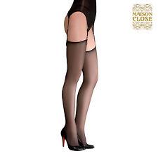 Lingerie Sexy Femme Bas voile - Les Coquetteries Noir Taille 2 - MAISON CLOSE