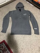 The North Face Grey Hooded Rope Knit Pullover Sweater Jacket Womens Large
