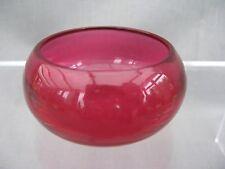 A large Cranberry glass Salt -  Victorian 19th Century