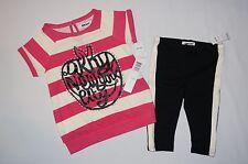 NWT $44 DKNY 2pc set GIRL size 18M pop pink