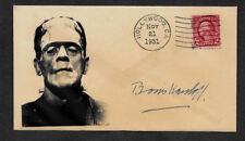 Frankenstein Boris Karloff Collector Envelope Original Period 1931 Stamp OP1161