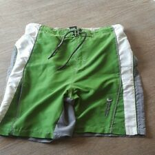 Free Country - Green and Grey Swim Trunks - Large - Excellent Used Condition