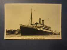 Old Vintage ORONTES Steamship RPPC Real Photo POSTCARD - Orient Royal Mail Liner