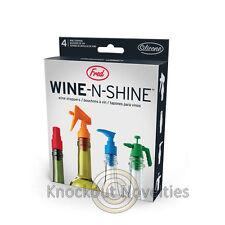 Wine N Shine Wine Stoppers Silicone Wine Preserve Taste Stop Bottle Spray Nozzle