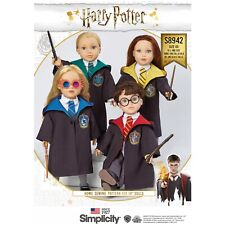 SEWING PATTERN! MAKE LICENSED HARRY POTTER DOLL ROBES~FIT AMERICAN GIRL~4 HOUSES