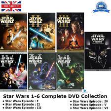 Star Wars Episode 1-6 Bonus Digitally Mastered Collection 1 2 3 4 5 6 New UK DVD