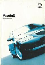 MAZDA 6 manuale di istruzioni 2003 MANUALE MANUALE bordo libro 1 BA