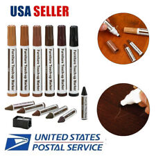 Wood Furniture Repair Pen Marker Pen Touch Up Kit Wax Scratch Fille Remover 12Pc