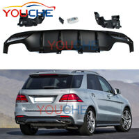 W166 Rear Bumper Diffuser with Exhaust Tips for Benz CLE-Class GLE320 GLE350 16+