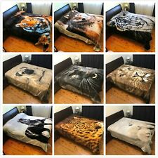 Thick Winter Queen Size Mink Blanket Quilt 200cm x 240cm - Animal Print