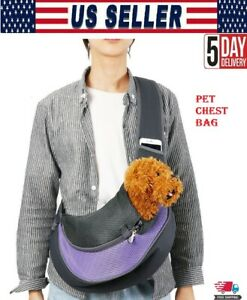 Pet Carrier Chest Bag Carrier Hands free Sling Mesh Outdoor Pouch For puppy Dog