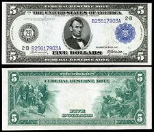 NICE  CRISP UNC.1914 $5 FEDERAL RESERVE NOTE COPY PLEASE READ DESCRIPTION!
