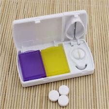 Plastic Portable Pill Cases Health Care Medicine Container Cutter  Pill Splitter