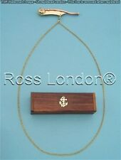 Bosun's pipe - Boatswain's Whistle Copper & Brass with Wooden Case