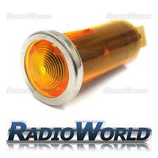 Ámbar amarillo Iluminado luz de advertencia lámpara indicadora coche DASH 12v Bisel Cromado