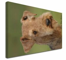 """Airedale Terrier Dog 'Love You Mum' 30""""x20"""" Wall Art Canvas, Ex, AD-AD1lym-C3020"""