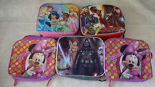 Lunch Food Totes Lot 5 Cool Kids Star Wars Minie Mouse Avengers Cinderella c