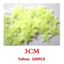 100PCS Wall Glow In The Dark Stars Stickers Kids Room Nursery Room Ceiling Decor