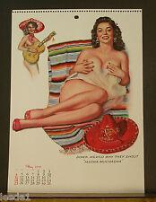 J. Thompson May 1958 Calendar Page Mexican Beauty Serape Mucha Muchacha