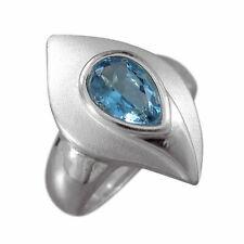 Schmuck-Michel Damen Ring Silber 925 Blautopas Tropfen (1290) - Ringgröße 54