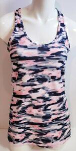 Lululemon Women's Pink Camo Cool Racerback Athletic Running Tank Yoga Top Size 8