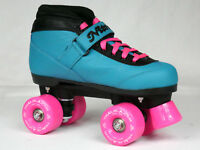 NEW CUSTOM Epic Nitro Turbo BUBBLE POP Blue & Pink Outdoor Quad Roller Skates