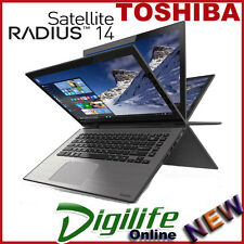 "TOSHIBA SATELLITE RADIUS 14"" Touch Screen Quad Core 2.0Ghz 4GB 500GB Win10"