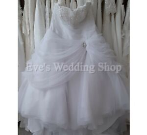 Tom Flowers new  white princess  wedding dress UK 28 - check measurements